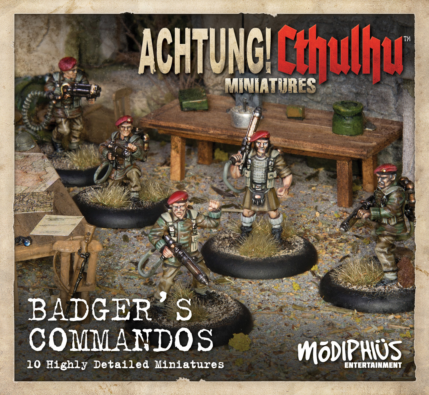 Achtung! Cthulhu: Badgers Commandos Unit Pack