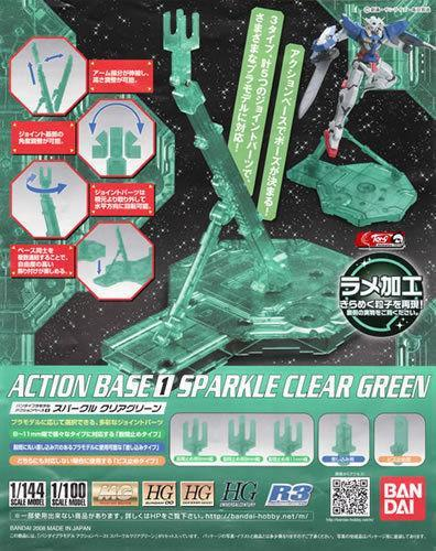 Action Base 1: 1/100: Sparkle Clear Green