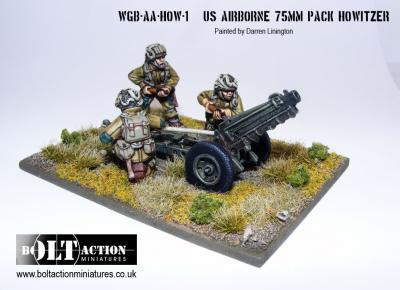 warlord games bolt action usa airborne 75mm pak. Black Bedroom Furniture Sets. Home Design Ideas