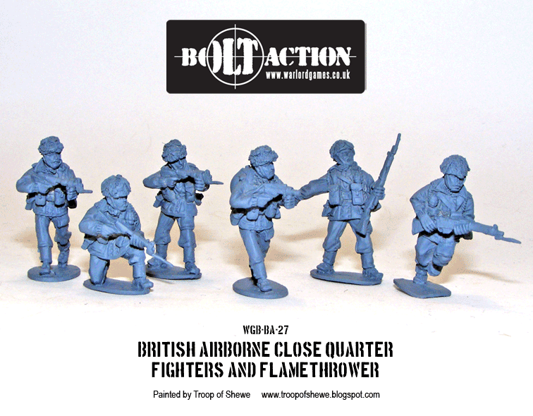 Bolt Action: British: Airborne Close Quarter Fighters and Flamethrower