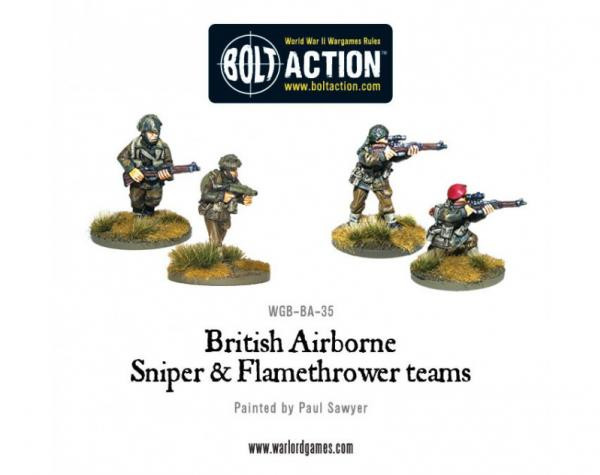 Bolt Action: British: Airborne Flamethrower and Sniper Teams