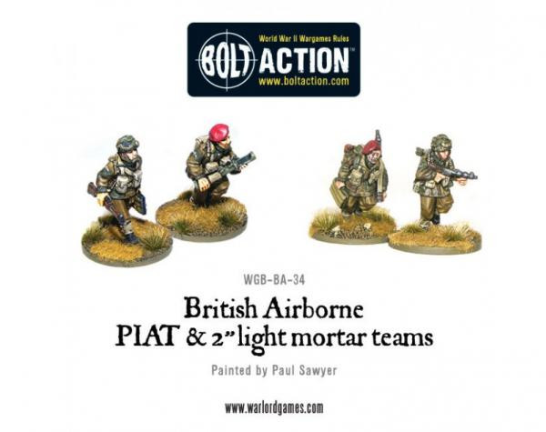 Bolt Action: British: Airborne PIAT and Light Mortar teams