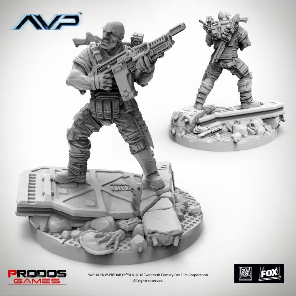 Alien vs Predator: USCM Officer Set