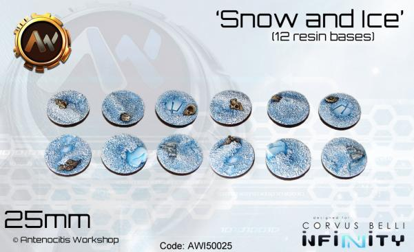 Antenocitis Workshop: Snow & Ice Bases 25mm
