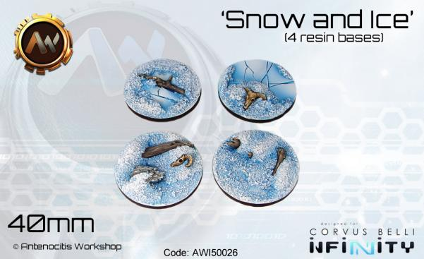 Antenocitis Workshop: Snow & Ice Bases 40mm