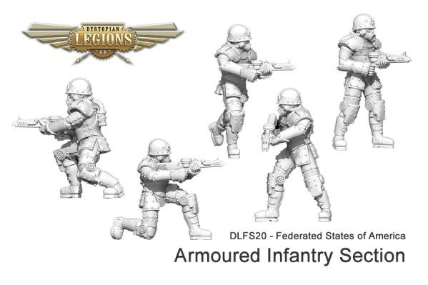 Dystopian Legions: Federated States of America: Armoured Infantry Section [SALE]
