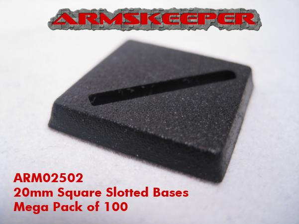 ArmsKeeper Bases: 20mm Square Slotted Bases (25)