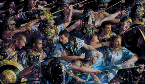 Artists of Magic Playmat 023: Donato Giancola - Farimir At Osgiliath