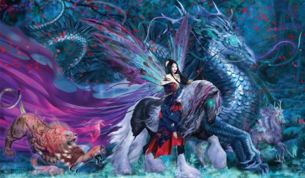Artists of Magic Playmat 036: Ride Of Yokai artwork by Ruth Thompson