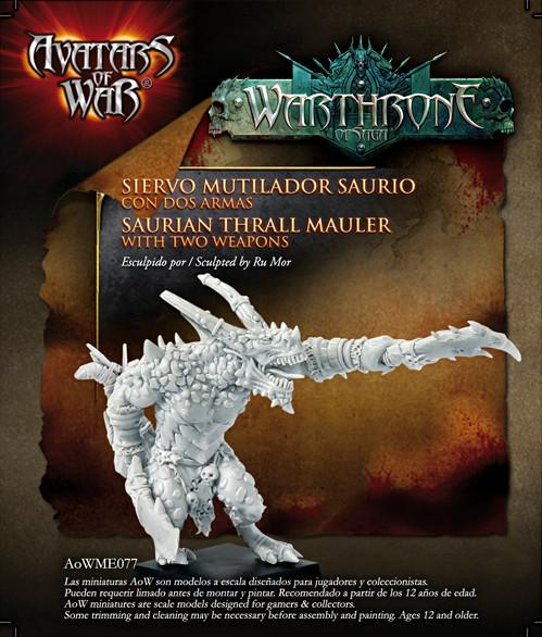 Avatars of War: Saurian Thrall Mauler with Two Weapons