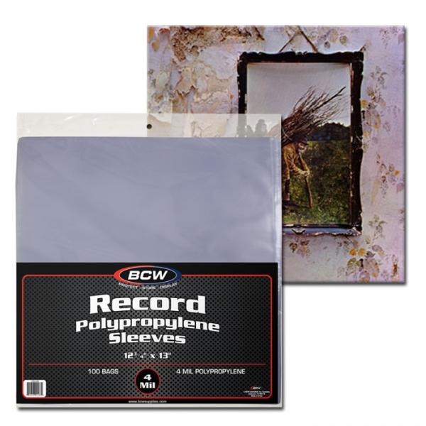 BCW Diversified: 33 RPM Record Sleeves