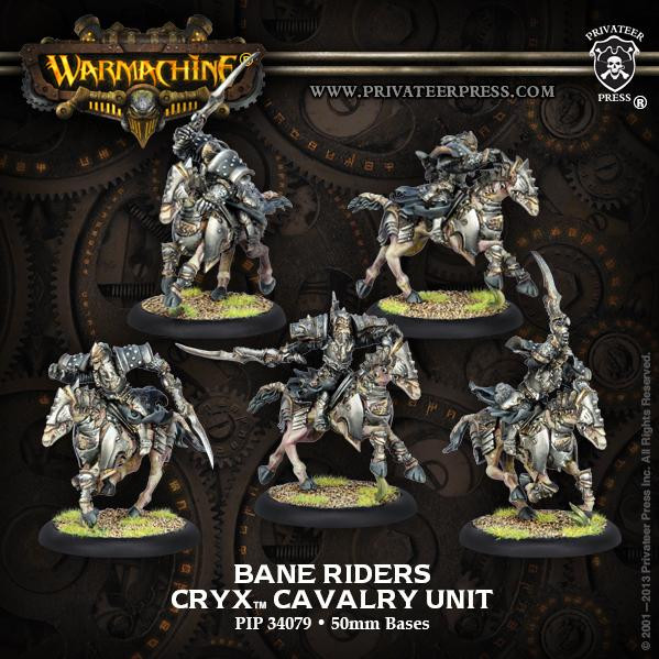 Warmachine: Cryx (34079): Bane Riders Cryx Cavalry Unit [SALE]