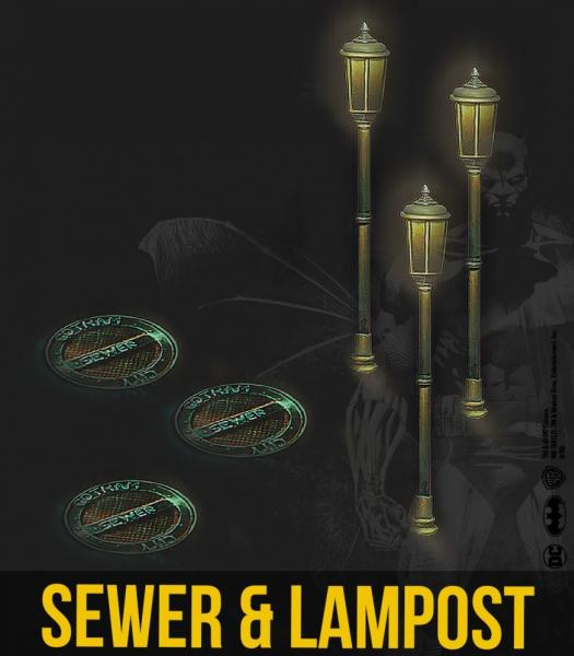 Batman Accessories: Sewer & Lampost Resin Set