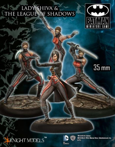 Batman Miniatures Game 011: Lady Shiva & the League of Shadows (Arkham Origins)
