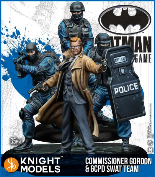 Batman Miniatures Game 2nd Edition: Commissioner Gordon & GCPD SWAT Team (Resin)