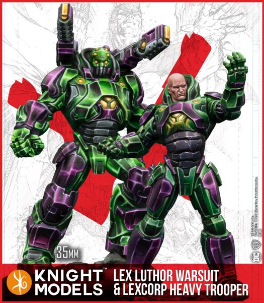 Batman Miniatures Game 2nd Edition: Lex Luthor Armor and Lexcorp Heavy Trooper