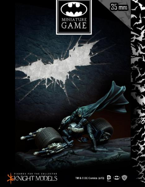 Batman Miniatures Game 007: Batman on Bat-Pod (Dark Knight Rises)