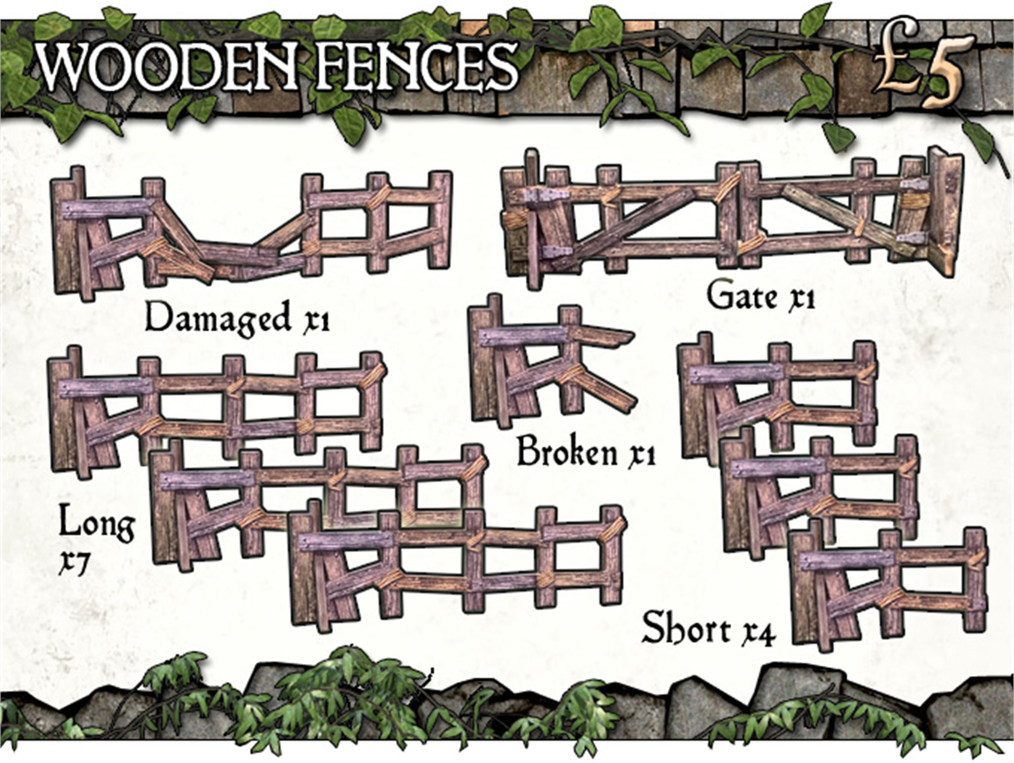 Battle Systems: Wooden Fencing