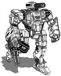 BattleTech: Quickdraw QKD-8P Mech - 60 Tons - TRO Prototypes