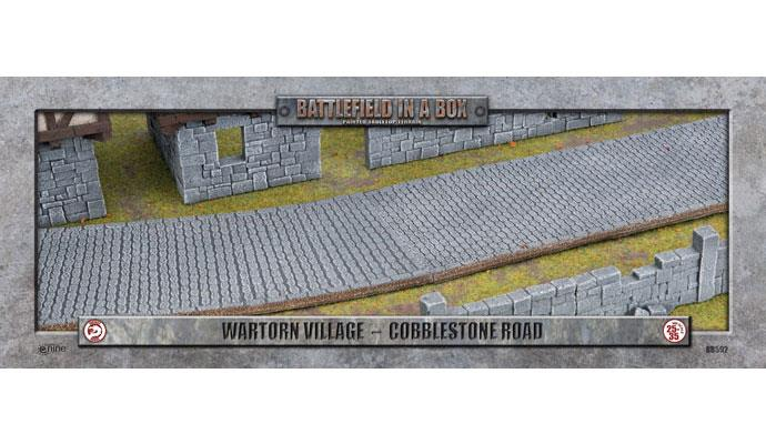 Battlefield in a Box: Wartorn Village Cobblestone Road