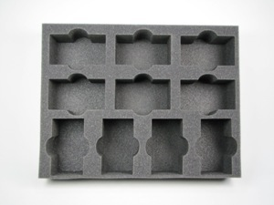 "Battlefoam: Warhammer: Tray: Movement Tray Holder 2 (4"")"