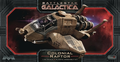 Battlestar Galactica: Colonial Raptor (1:32 Scale Plastic Assembly Kit)