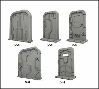Terrain Crate: Starship Doors (Star Saga)