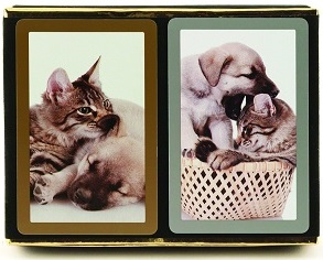 Bicycle Playing Cards: Congress Cat/ Dog Index Silver
