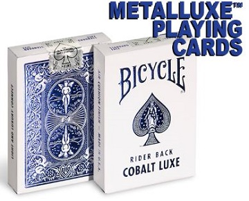 Bicycle Playing Cards: Foil Cobalt Blue MetalLuxe