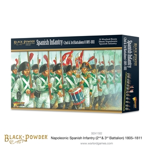 Black Powder Napoleonic Wars: 1805 -1811 Spanish Infantry (2nd & 3rd Batallions)
