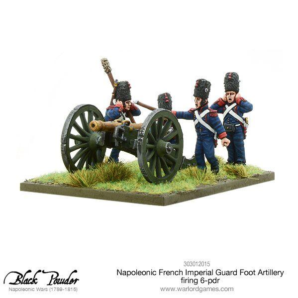 Black Powder Napoleonic Wars: French Imperial Guard Foot Artillery, Firing 6-pdr Cannon