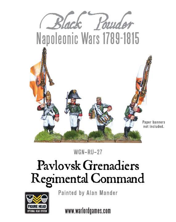 Black Powder Napoleonic Wars: Pavlovsk Grenadiers Regimental Command