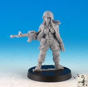 Black Scorpion Miniatures: US Marines: Medic Girl