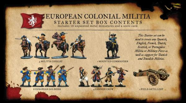Blood & Plunder: European Colonial Militia Starter Set