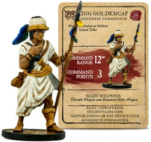 Blood & Plunder: Native American King Golden Cap Legendary Commander