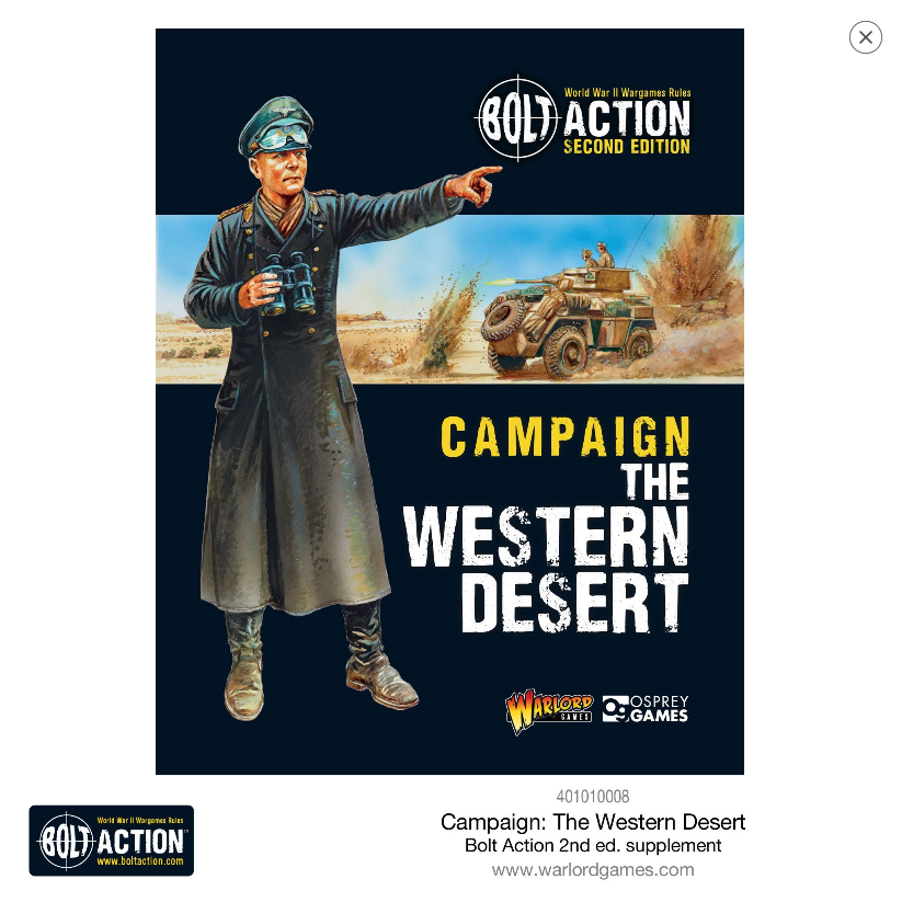 Bolt Action (2nd Edition): Campaign- The Western Desert