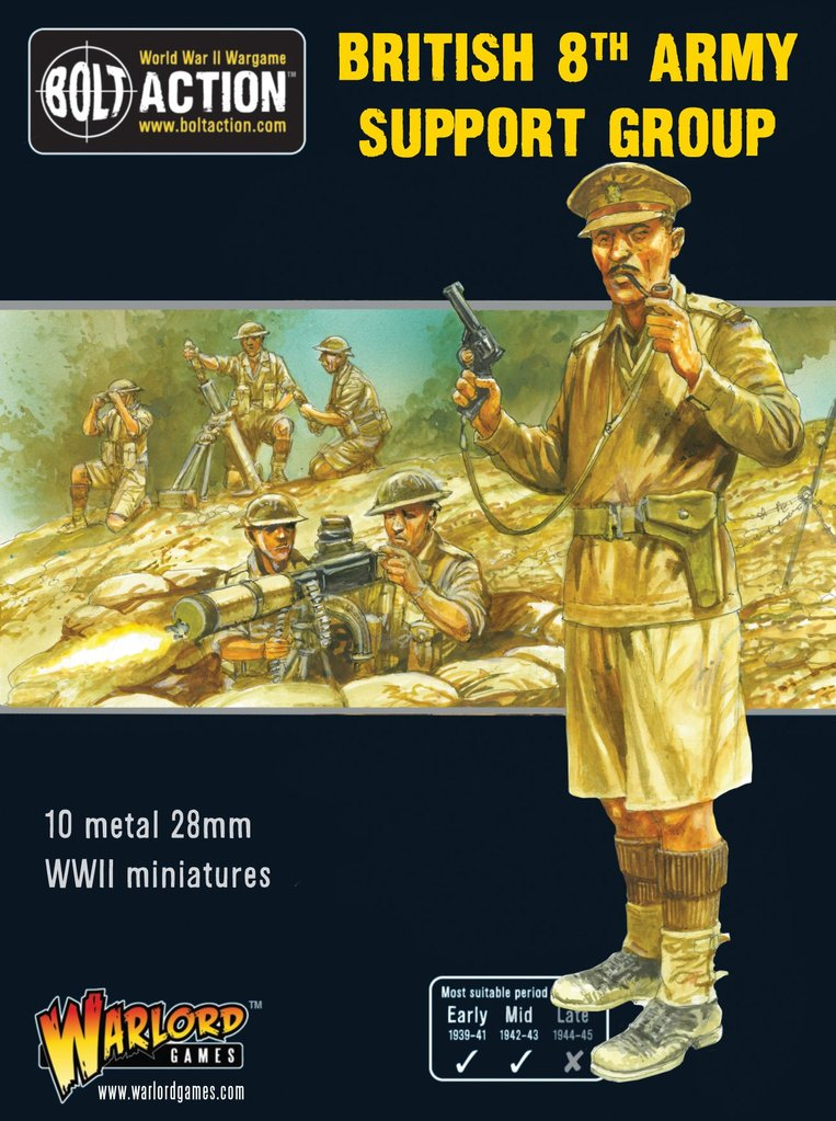 British 8th Army HQ Bolt Action Warlord Games 28mm