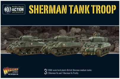 Bolt Action: British: British Sherman Tank Troop