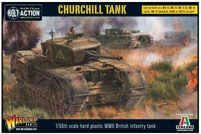 Bolt Action: British: Churchill Tank (Plastic)