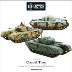 Bolt Action: British: Churchill Troop