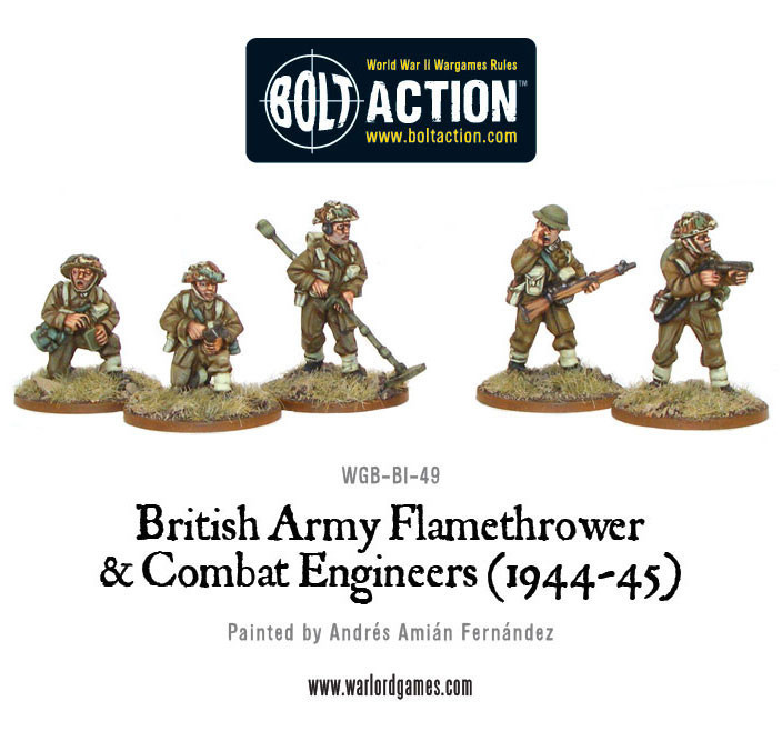 Bolt Action: British: Flamethrower & Combat Engineers