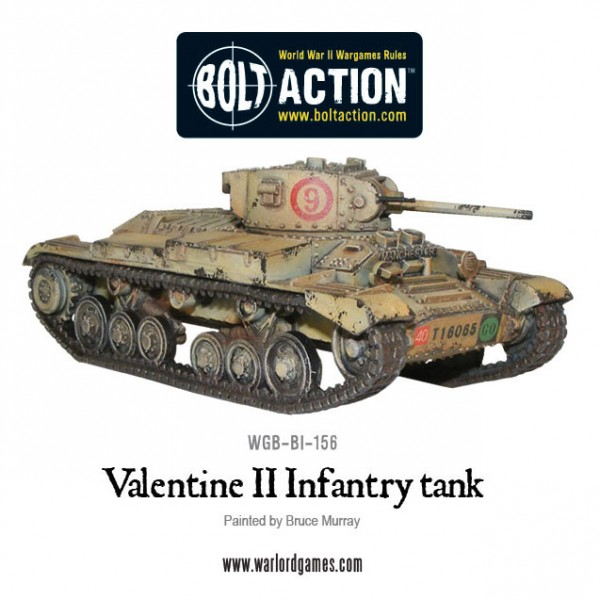 Bolt Action: British: Valentine II Cruiser Tank