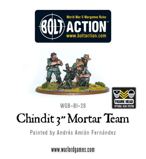 "Bolt Action: Chindit 3"" Mortar Team"