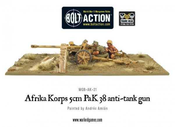 Bolt Action: German: Afrika Korps 5cm PaK 38 Anti-Tank Gun