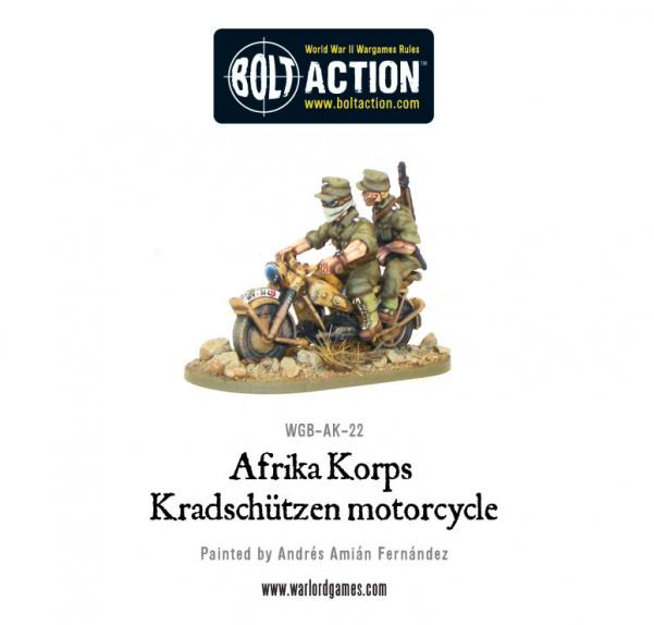 Bolt Action: German: Afrika Korps Kradschutzen Motorcycle