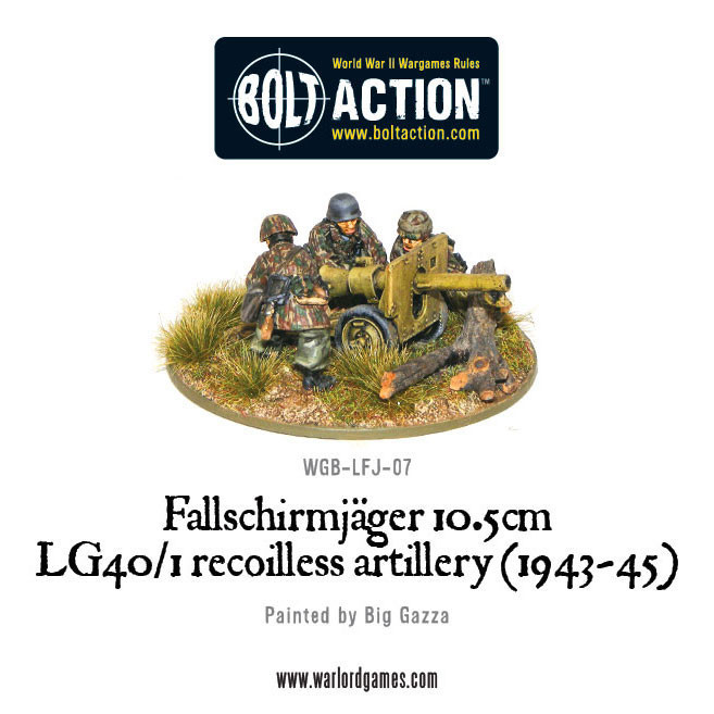 Bolt Action: German: Fallschirmjager 10.5cm LG40/1 Recoilless Artillery (1943-45)