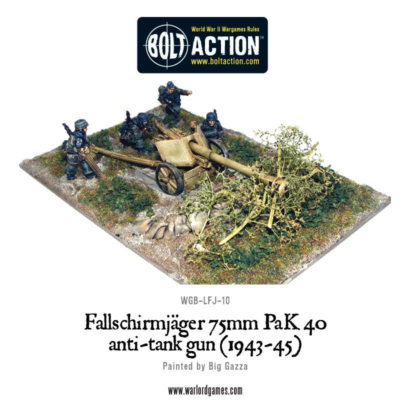 Bolt Action: German: Fallschirmjager 75mm PaK 40 Anti-tank Gun (1943-45)