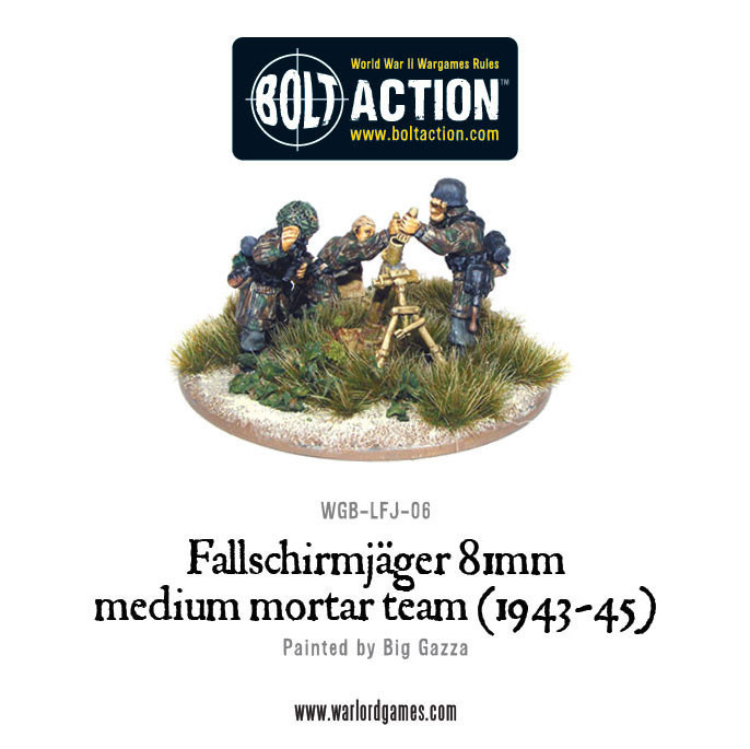 Bolt Action: German: Fallschirmjager 81mm Medium Mortar Team (1943-45)