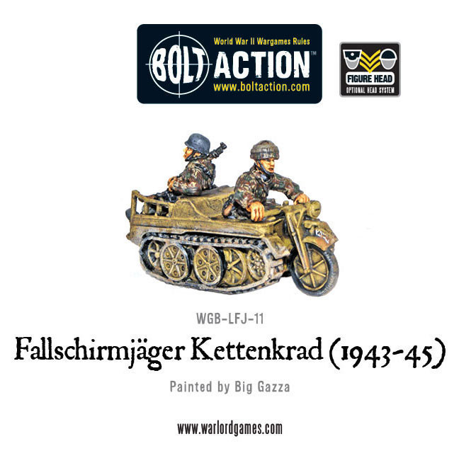 Bolt Action: German: Fallschirmjager Sdkfz. 2 Kettenkrad (1943-45)