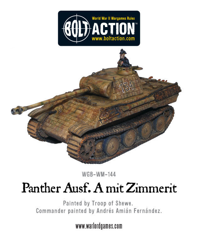 Bolt Action: German: Panther Ausf A with Zimmerit
